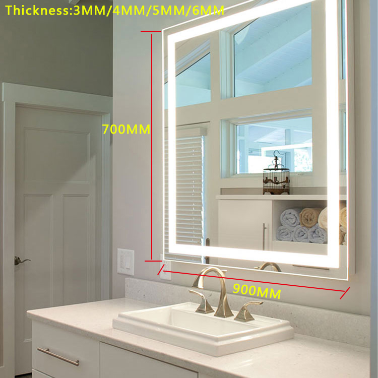 Fog proof cheap price Led smart bathroom shower mirror touch screen bathroom wall backlit mirror