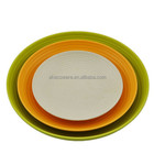 High quality food safe 3pcs set bamboo fiber plate (round plate)