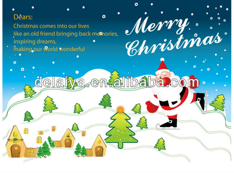 Christmas paper card for greeting