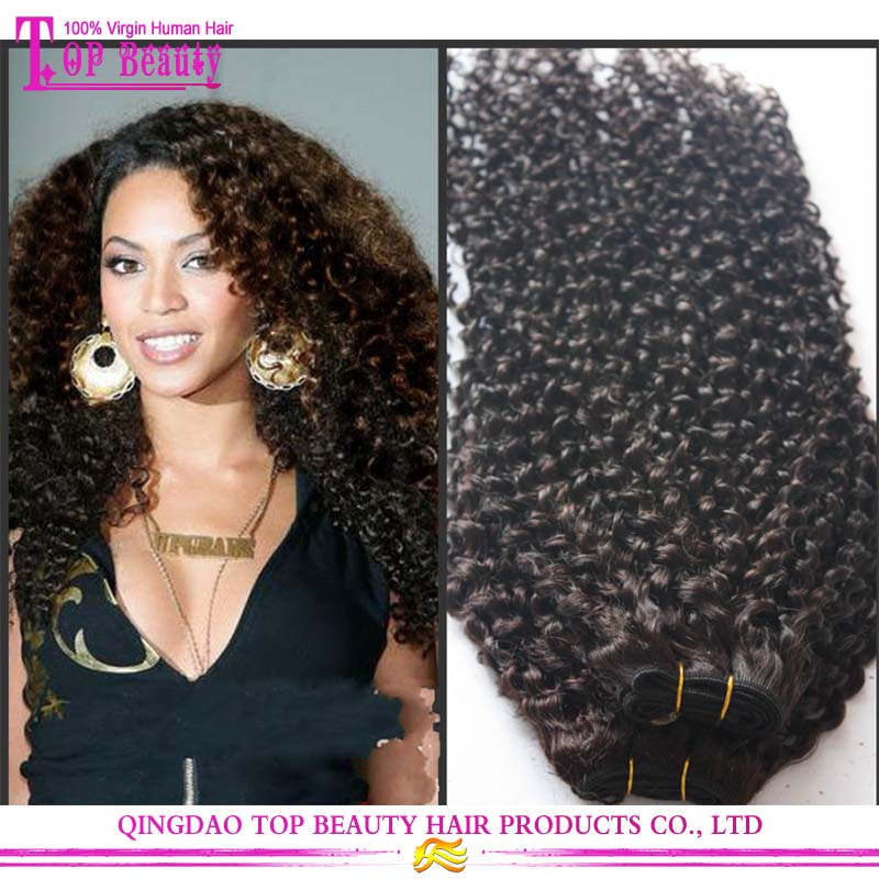 New Arrival Double Drawn Afro Kinky Curly Weaving Hair 100