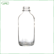 Clear small round pharmaceutical glass bottle 75ml wholesale