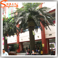 artificial date palm tree hight quatily landscaping garden decoration fiberglass large colorful coconut palm tree for sale