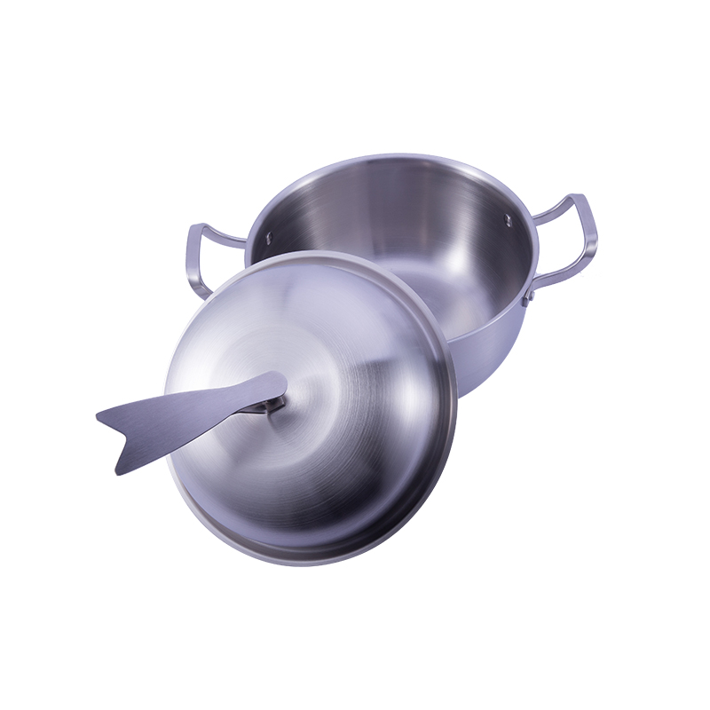 Stainless Steel Nonstick Egg Fry 3-ply frying pans chinese wok cooking pot set