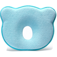 Comfortable head positioner neck support memory foam baby pillow