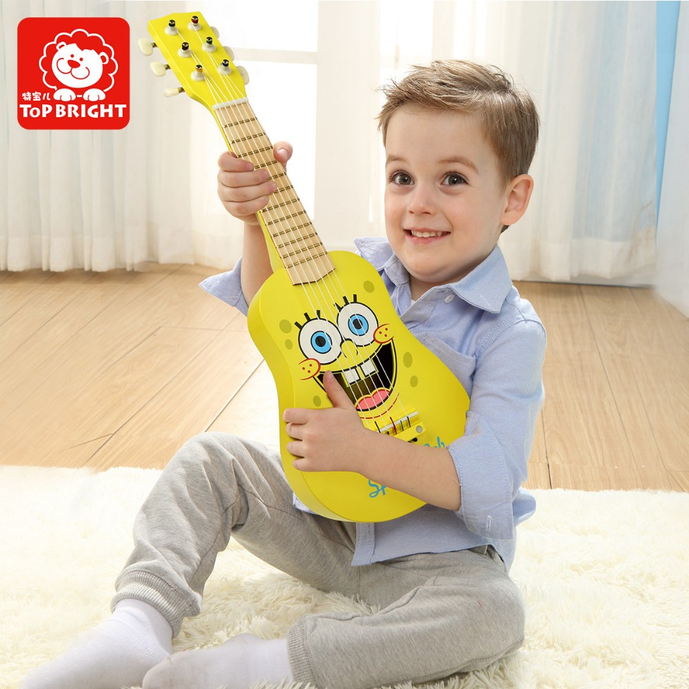 Toy Musical Instrument bsci icti musical kids wood guitar