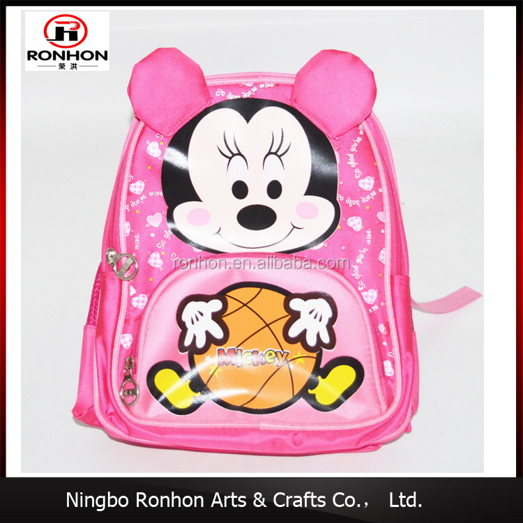 Wholesale china factory primary school bag products 3D cartoon printing oxford kids backpack small school bag
