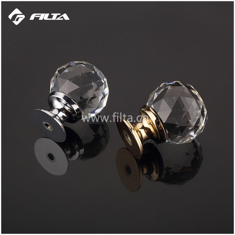 Filta decorative india glass drawer door knobs,furniture crystal wardrobe door knob with different color and size
