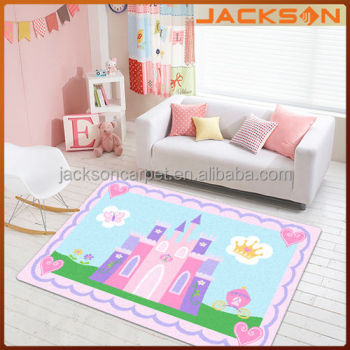 Decorative Girls Cartoon Pink Princess Kids Rugs Buy Cartoon