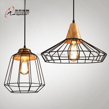 Simple Metal Wood Pendant Hanging Light Different Designs