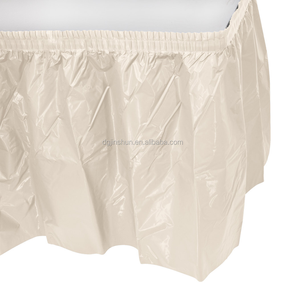 "plastic table skirt,table skirt,29""x14'"