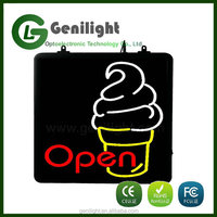 LED Ice Cream Neon Sign - Flashing - Top Value & Eye Catching. Stand Out