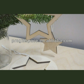 2018 hot sell handmade wooden stars christmas decoration made in china