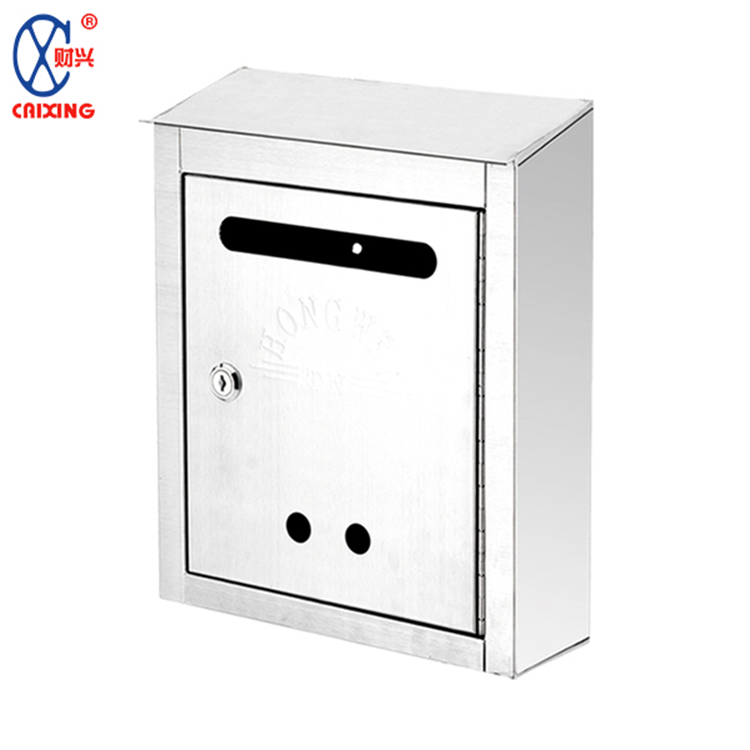 Wholesale classical style wall mounted stainless steel waterproof mailbox