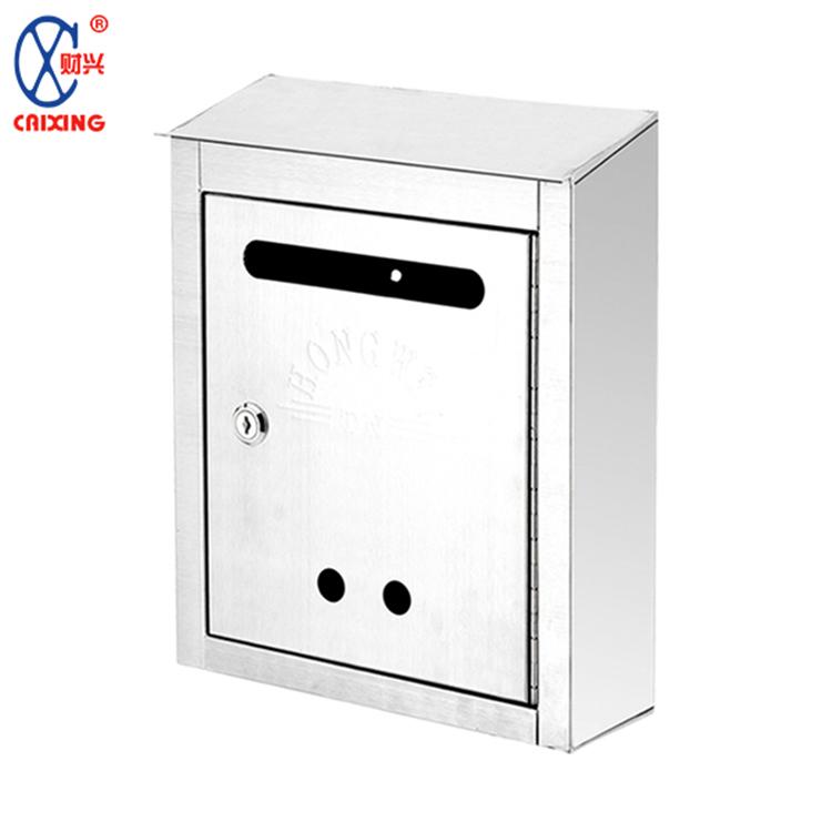 Grosir klasik gaya wall mounted stainless steel tahan air kotak surat