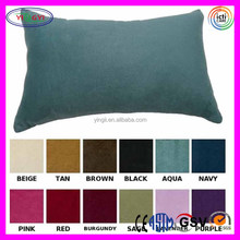 E553 Solid Faux Suede Pillow Oblong Cover Bed Sofa Throw Suede Oblong Pillow