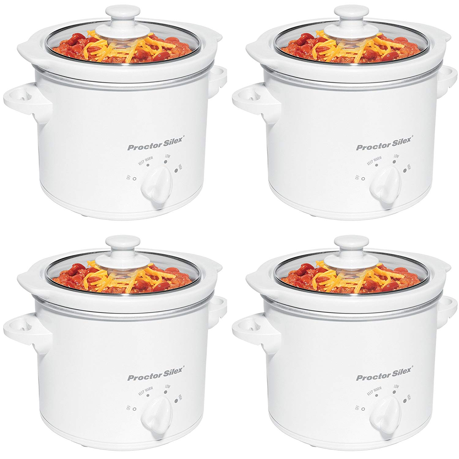 Proctor-Silex 1.5-Quart Slow Cooker (4 Pack)