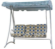 Steel Hammock With Stand In Grid Pattern