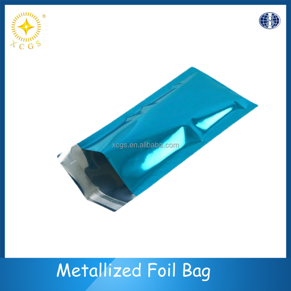 Blue metallic foil mailer envelopes,electronic devices packing bag