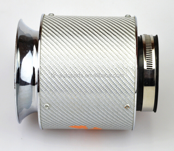 76mm high flow performance air intake universal carbon filter /sport air filter /tuning parts