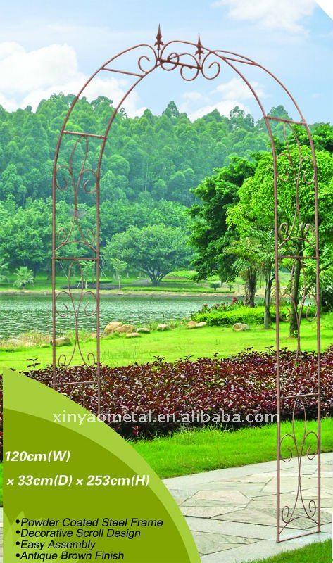 Tuin metalen pergola smeedijzeren tuin boog voor for Arco decorativo jardin