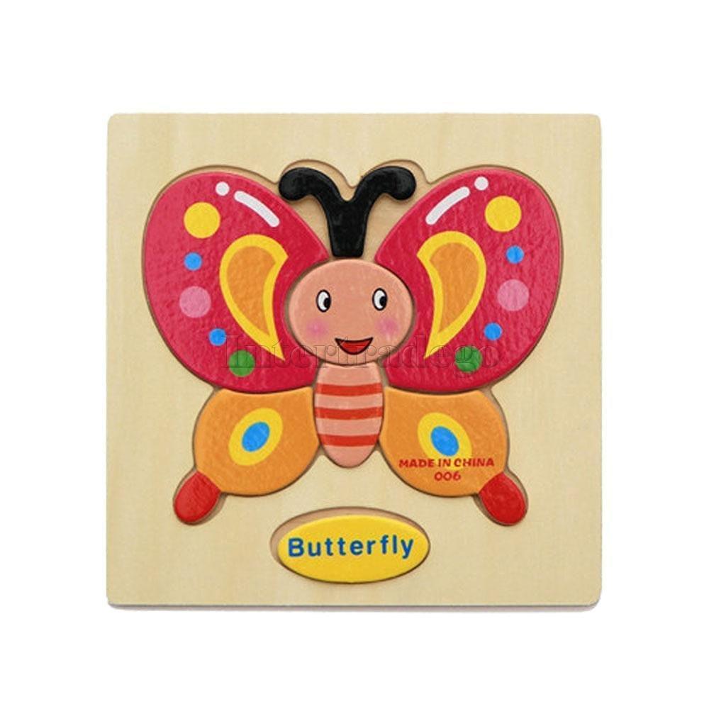Sangdo oden Cartoon Butterfly Shape Puzzle Educational Developmental Baby Kids Toy