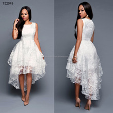 Wholesale white lace Swallowtail african styles elegant dresses for women