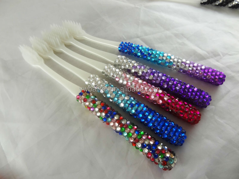 2016 New Designed Rhinestone Toothbrush