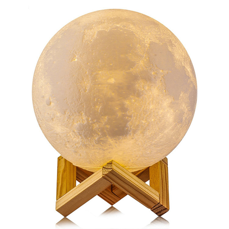 Goldmore Amazon Moon Light 3D Printing Moon LED Light Dimming with USB Rechargeable