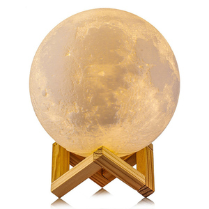 Low MOQ 48pcs carton pack Goldmore Amazon Moon Light 3D Printing Moon LED Light Dimming with USB Rechargeable