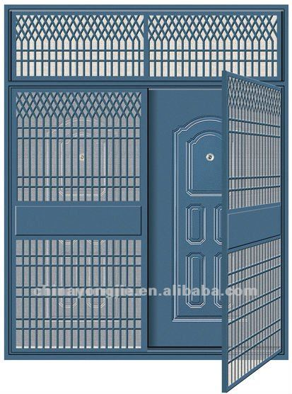 Grill door design modern makeover and decorations ideas for Office main door design