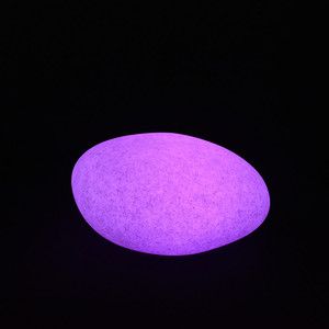 Iridescence stone lights LED color lamp luminous appeal The bedroom lamp charging remote control creative desk lights