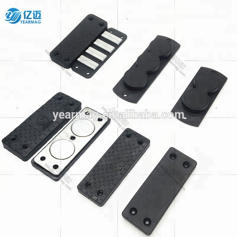 Concealed Magnetic Gun Holder for Car with Thick Rubber Coating