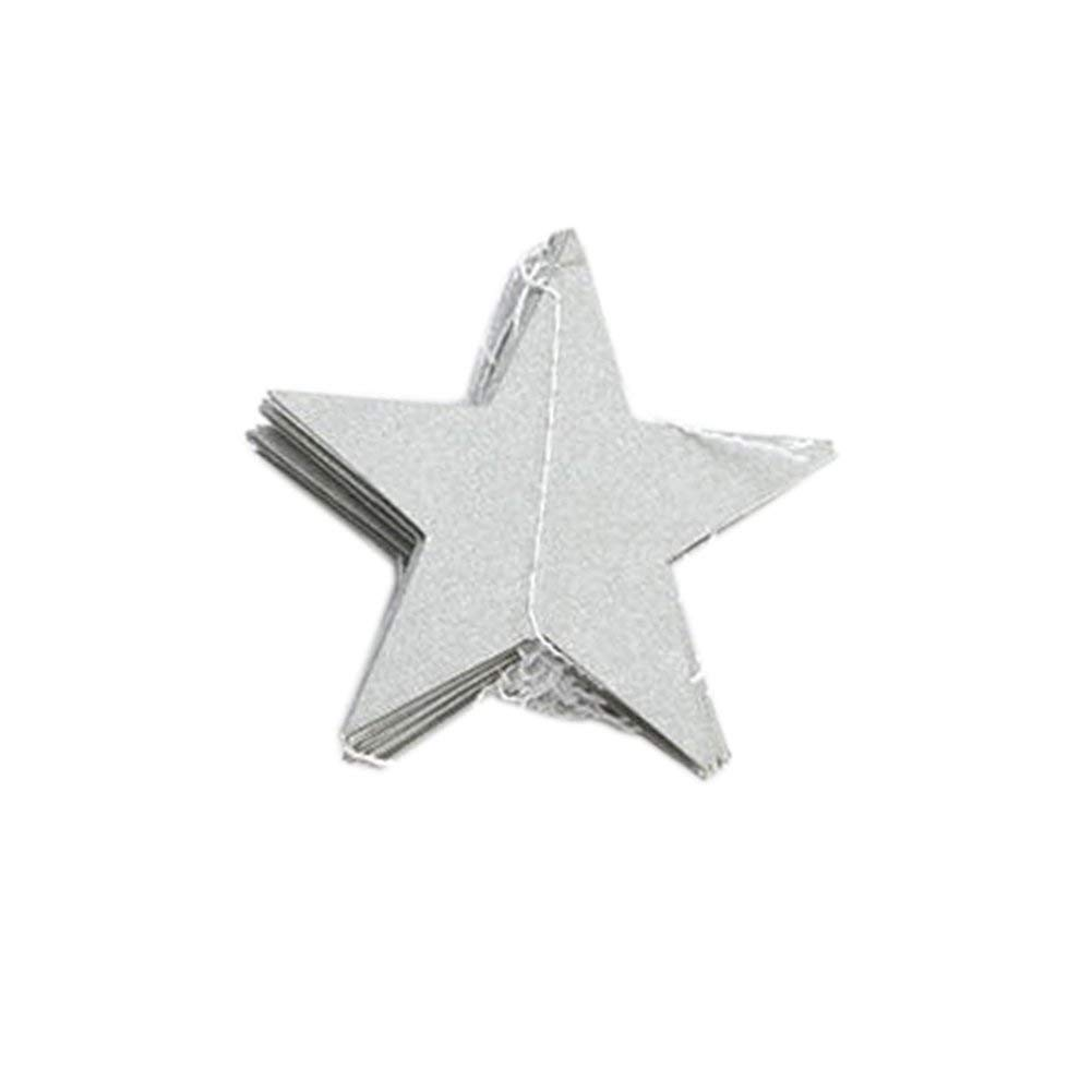 Get Quotations Usaboutall Amazing Party 4m Cardboard Paper Stars Banner Festival Celebration Wall Hanging Decor Silver