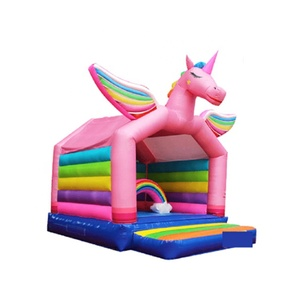 Wholesale Promotional Newly air bouncer inflatable trampoline castle unicorn giant inflatable bouncer