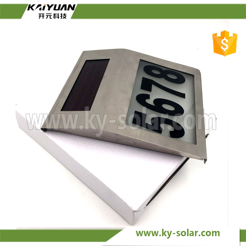 new develop Biggest size Solar House Number Sign Led Street Address Light