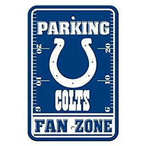 "Indianapolis Colts NFL ""Fan Zone"" Parking Sign 12"" x 18"""