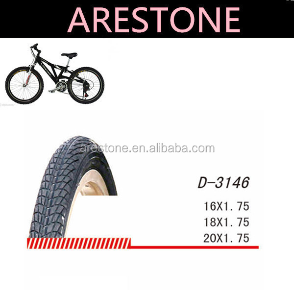 "16"" solid rubber bicycle tire"