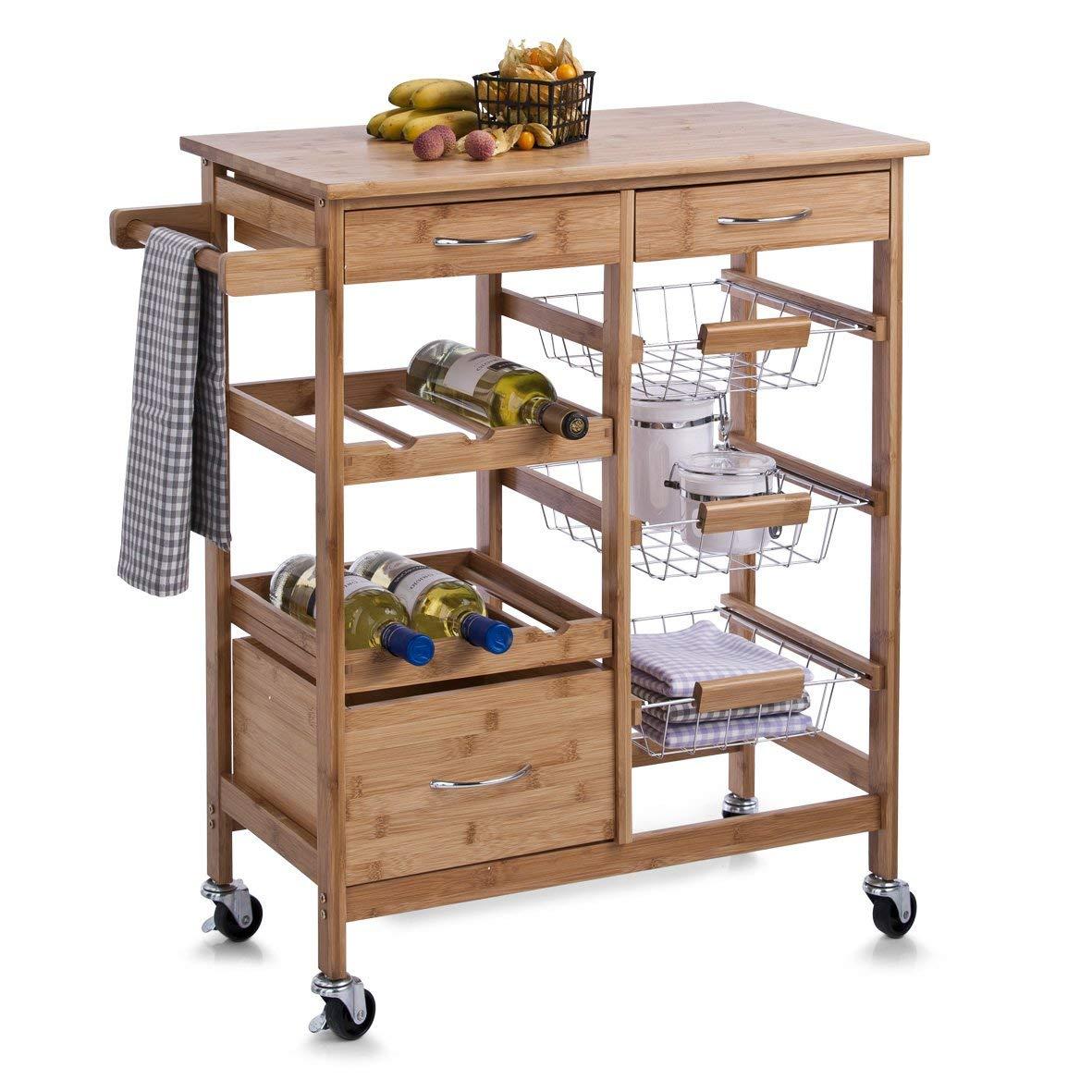 kitchen-furniture-bamboo-wooden-kitchen-storage-trolley