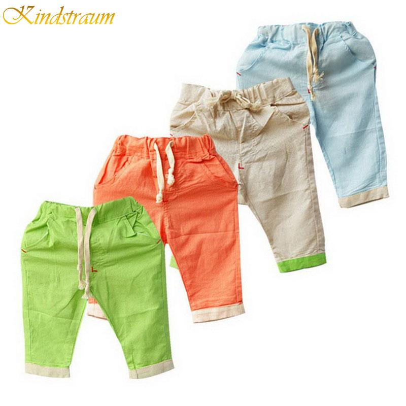 2016 New Retail Hemp Cotton boys summer shorts children brand beach shorts kids casual shorts drop