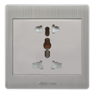 BOGE A8 wall electric power switches and socket 2 & 3 Pin/Pole Universal Sockets plug AC250V 13A PC stainless steel