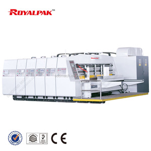 APS V fully automatic corrugated box machine with printing slotting die cutting