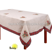 christmas tablecloths and runners with candle embroidery