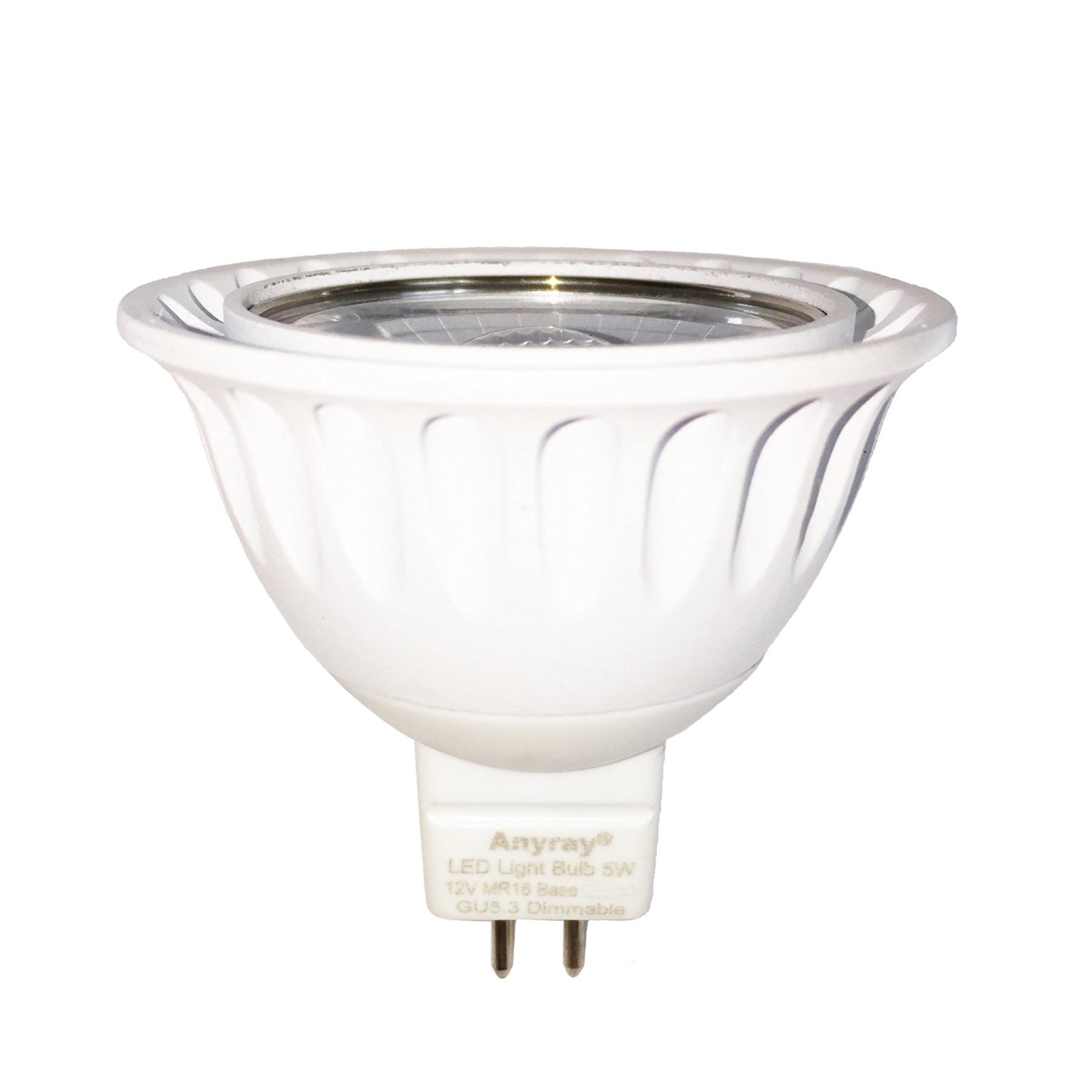 Anyray 1-Bulb Dimmable 5W GU5.3 MR16 LED Bulb, Equal to 20W-35Watt Halogen Bulb, 12 VAC/DC, Red Color