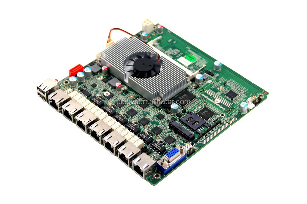 MINI ITX 6 LAN motherboard with 3*RS232,2 PIN header,1*RJ45 port