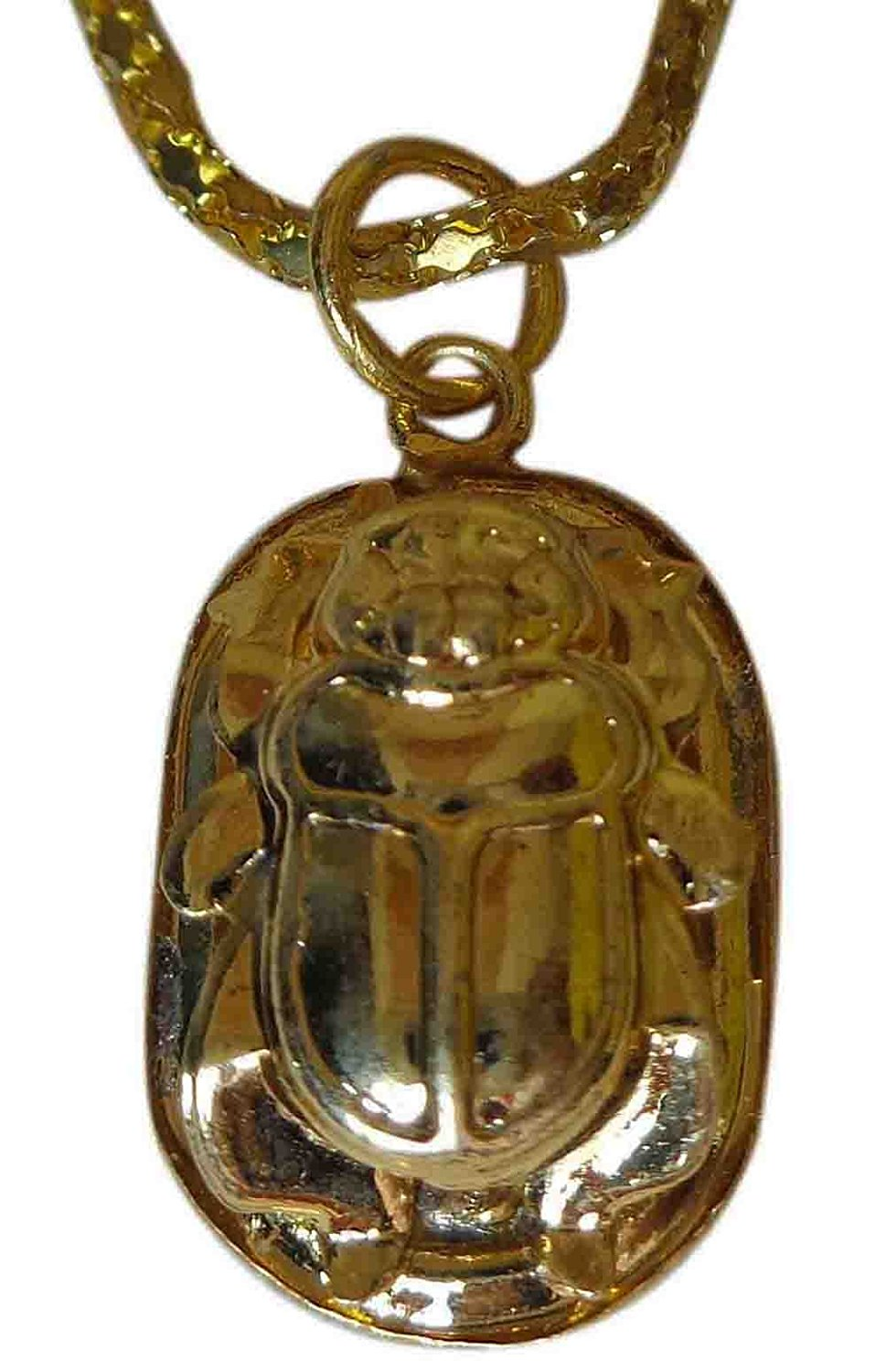 Egyptian Brass king Tut Ankh Pharaoh Necklace Pendant  Jewelry Hand Painted  102