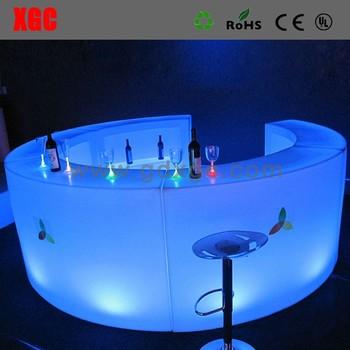 Reception Desk With Led Lighting Plastic Rgb Salon Beauty Desks Used