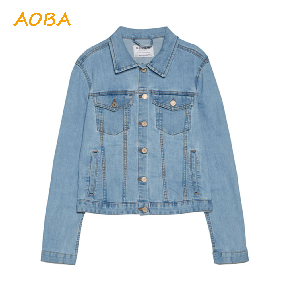 China Factory High Quality OEM Long Sleeves Jean Jackets Women Coat