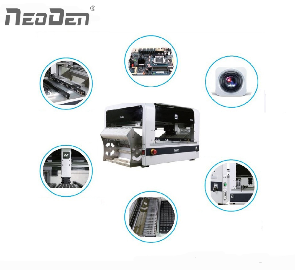 Desktop Pick and Place machine NeoDen4 with cameras/vision
