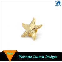 Ocean Beach Jewelry Nautical Gold Starfish Lapel Pin