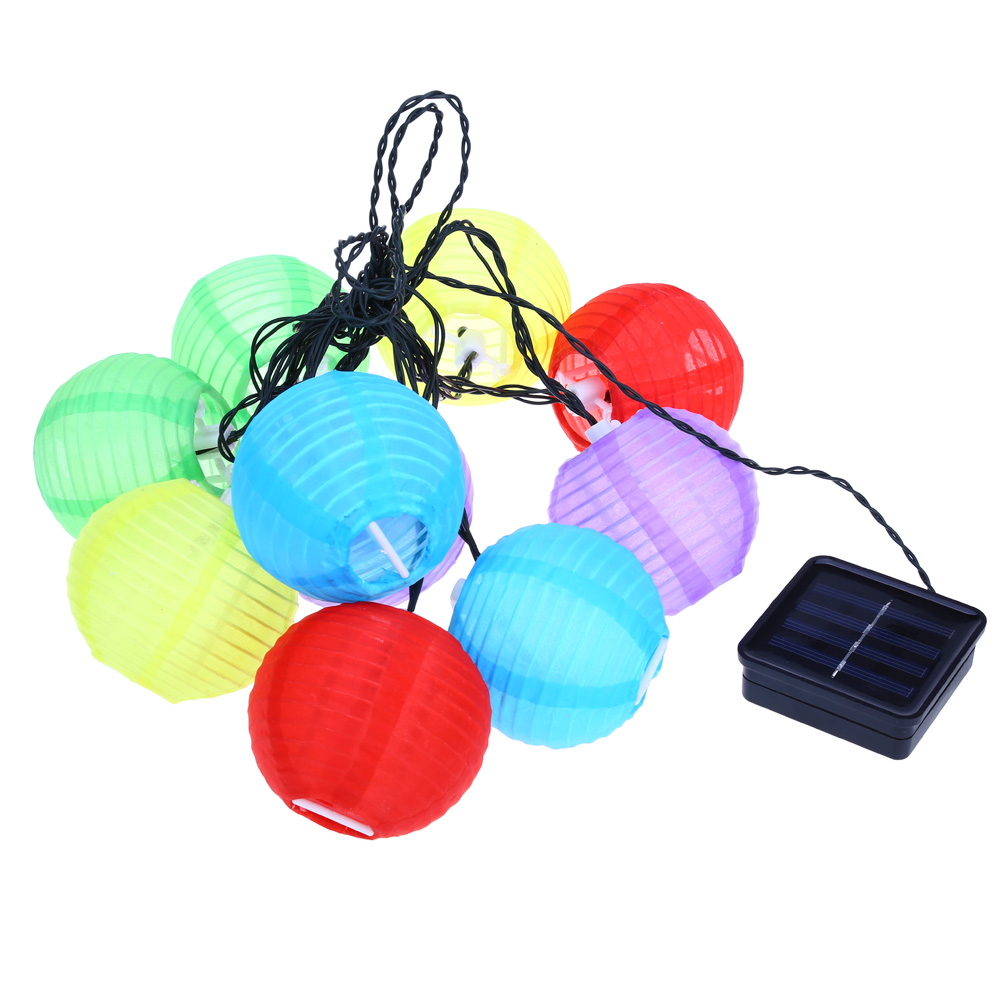 Outdoor Bistro Solar Powered Globe String Lights: 20 LED Outdoor Lantern Ball Solar String Lights Fairy